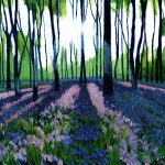 BlueBell Woods painting artwork