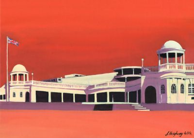 Colonnades in Red – Bexhill-On-Sea
