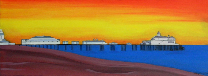 Red Skies over Eastbourne Pier