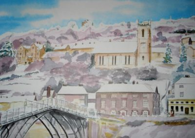 Ironbridge in the Snow