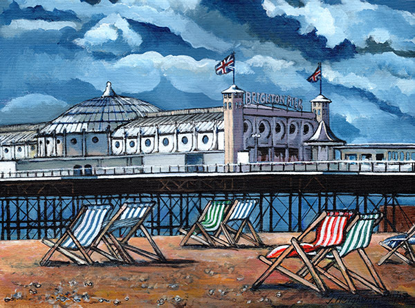 Deckchairs at Brighton Pier