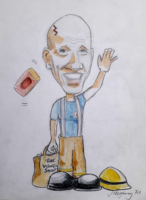 Lester retirement caricature