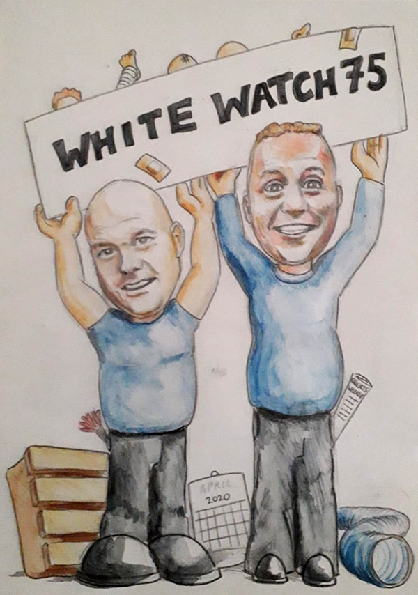 Shano and Whothe caricature