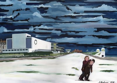 Snow at De La Warr Pavilion, Bexhill-On-Sea